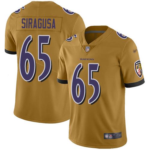 Women's Nico Siragusa Purple Backer Football : Baltimore Ravens #65 Pullover Hoodie