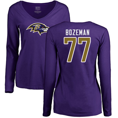 Alex Lewis Black Name & Number Logo Football : Baltimore Ravens #72 Pullover Hoodie