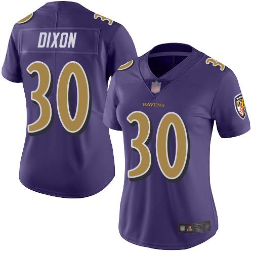 Women's Kenneth Dixon Purple Limited Football Jersey: Baltimore Ravens #30 Rush Vapor Untouchable  Jersey