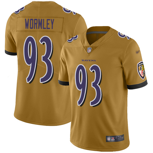 Women's Chris Wormley Purple Backer Football : Baltimore Ravens #93 Pullover Hoodie