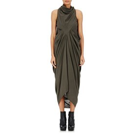 Rick Owens Naska Gathered-Front Dress