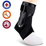 SNEINO Ankle Brace Adjustable Support-Injury Recovery,Ankle Brace for Men, Ankle Brace for Women,Ankle Brace Stabilizer,Ankle Brace for Sprained Ankle,Volleyball Ankle Brace(One Size, Strengthen)