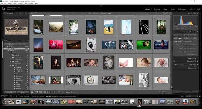 Screenshot of Lightroom CC interface - Photoshop or Lightroom?