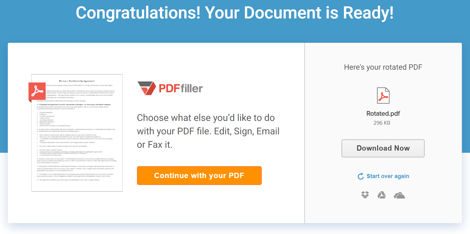 Rotate Pages in PDF