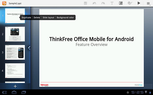 ThinkFree Mobile for Tablet v4.1.120206