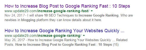 Increase Google Ranking fast