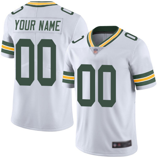 Youth White Road Limited Football Jersey: Green Bay Packers Customized Vapor Untouchable  Jersey