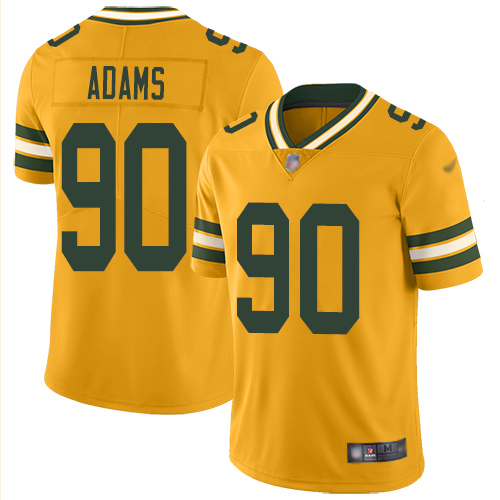 Youth Montravius Adams Gold Limited Football Jersey: Green Bay Packers #90 Inverted Legend  Jersey