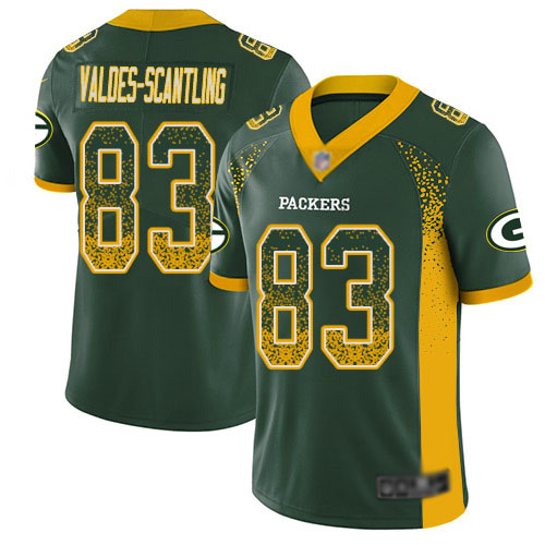 Men's Marquez Valdes-Scantling Green Limited Football Jersey: Green Bay Packers #83 Rush Drift Fashion  Jersey