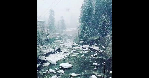 Watch: First snowfall of the season puts a beautiful white cover on Manali in Himachal Pradesh
