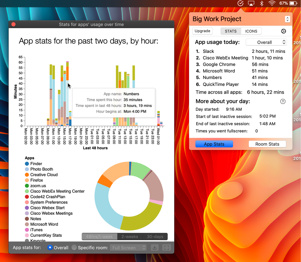 Rich info, always ready at a moment's notice - CurrentKey Stats stores all of your data locally, so there's never any need to log in to a website dashboard to view your stats. This means your stats are always just ONE click away!