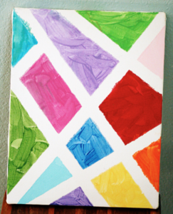abstract paint with masking tape