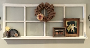 photo frame in old Window