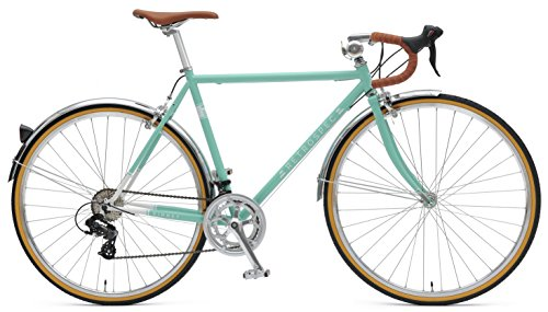 Retrospec Bicycles Kinney 14-Speed Vintage Hybrid Diamond Drop-Bar Frame Bicycle, Celeste, 58cm/Large