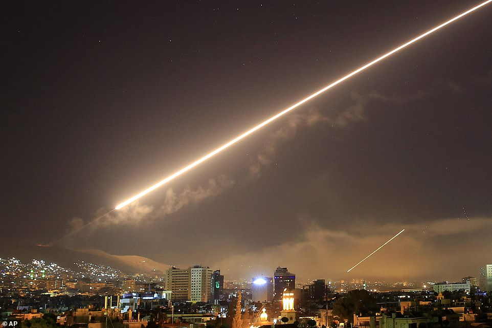 A leaked email last night dramatically indicated that the UN's poison gas watchdog had butchered and censored a critical report on an alleged chemical attack in Syria. If substantiated, the revelations will be severely embarrassing for Britain, France and America, which launched a massive military strike in retaliation without waiting for proof that chemical weapons had actually been used. (Above, an RAF Tornado over Damascus during the coalition attack)