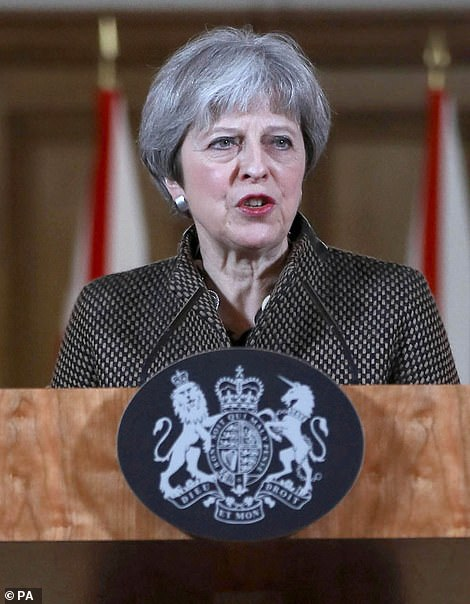 Britain's then Premier, Theresa May, was equally confident of her facts