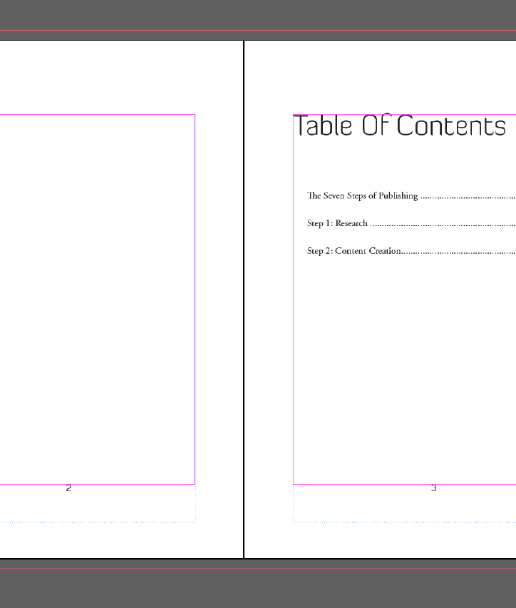 InDesign Page Numbers Example Two