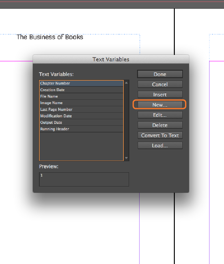 InDesign Master Pages Chapter Title Headers