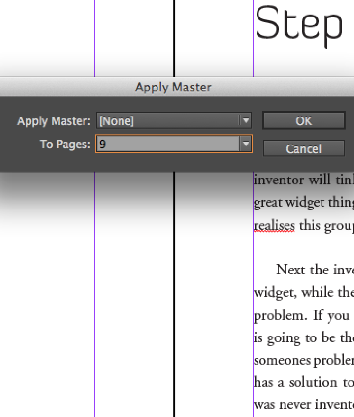 InDesign No Master Pages for Chapter Starts