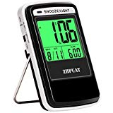 ALARPRO Travel Alarm Clock Battery Operated with Light Sensor, Small Digital Clock with Month and Date