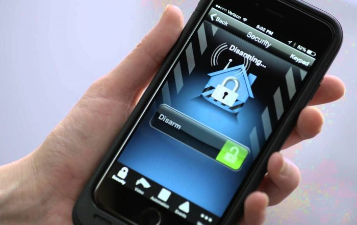 smart phone alarm systems