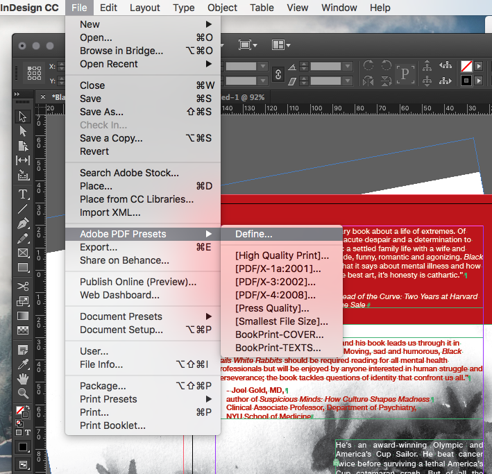 Adobe InDesign - Export PDF