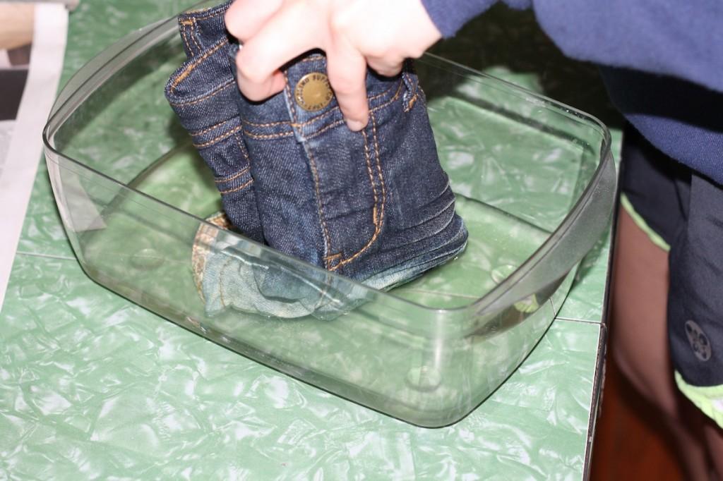 Bleach Dipped Jeans Shorts