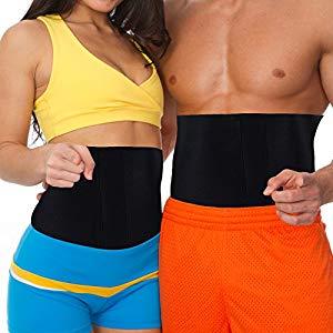 Strong Black Adjustable Fit Waist Trimmer Tummy Belt Trim Curve Contour