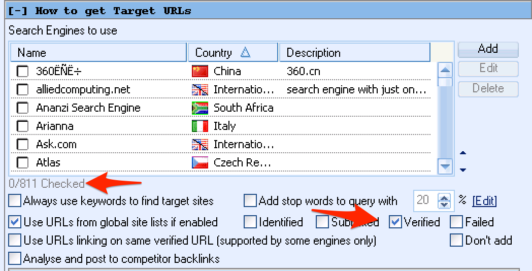 GSA Search Engine Ranker Target Aquisition