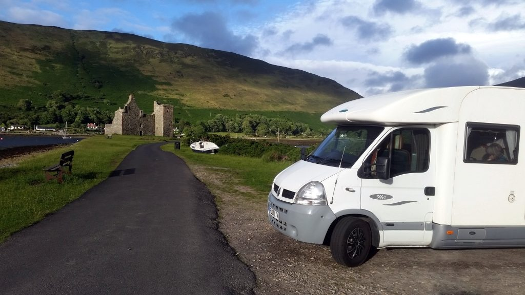 Parked at Lochranza, Arran