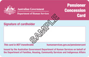 Pension Concession Card 2013