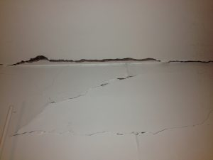 Crack in plaster