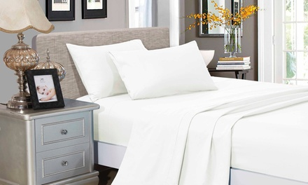 1000TC Ultra Soft Microfibre 4-Pc Sheet Set: King Single ($29), Double ($34), Queen ($39), King ($44), Super King ($59)