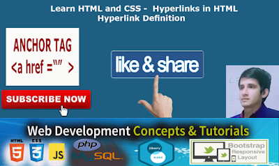 Learn HTML and CSS - Hyperlinks in HTML | Hyperlink Definition