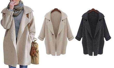 Open Loose Front Knit Coat: One ($29) or Two ($49)