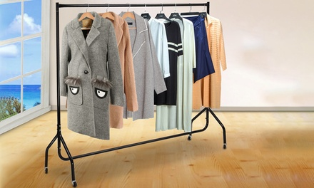 6ft Portable Metal Clothes Rack: One ($39) or Two ($69)