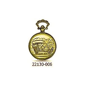 Mercedes 1903 Montres Carlo Pocket Watch with Chain comes in Antique Gold tone Movt Made by Seiko Epson