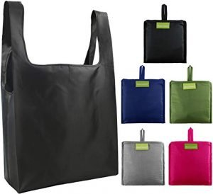 Reusable Bags Set of 5, Grocery Tote