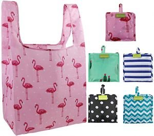 Foldable Reusable Grocery Bags-Folding Tote Shopping Bags