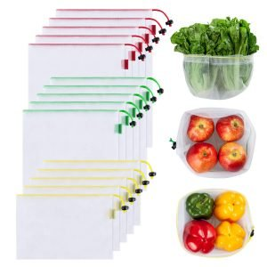 Ecowaare Set of 15 Reusable Mesh Produce