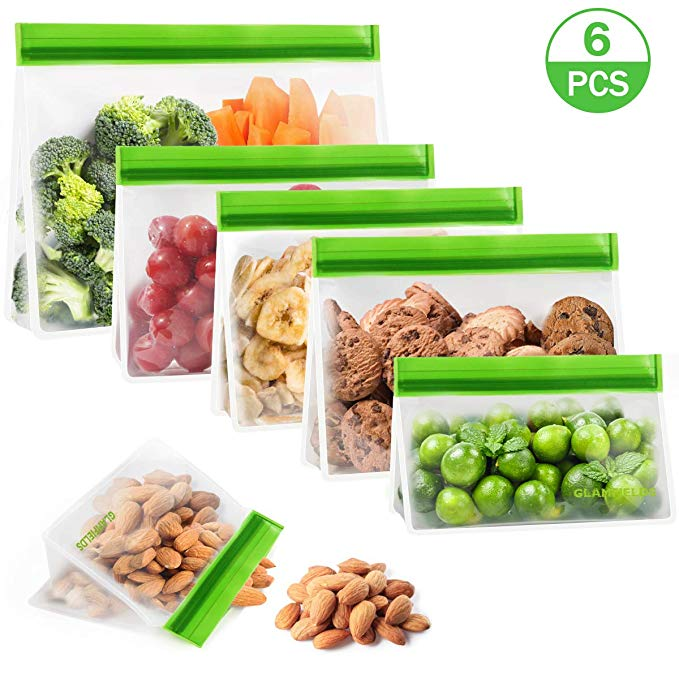 Glamfields Stand up Reusable Food Storage Bags