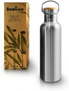 Bambaw Insulated Water Bottle Stainless Steel Water Bottle 25oz