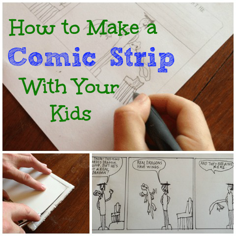Comic strips for kids: here's an easy way to bring out the artist and storyteller in your kids, in seven easy steps.