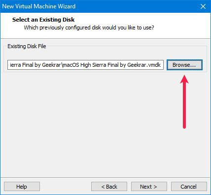 Select an Existing Disk