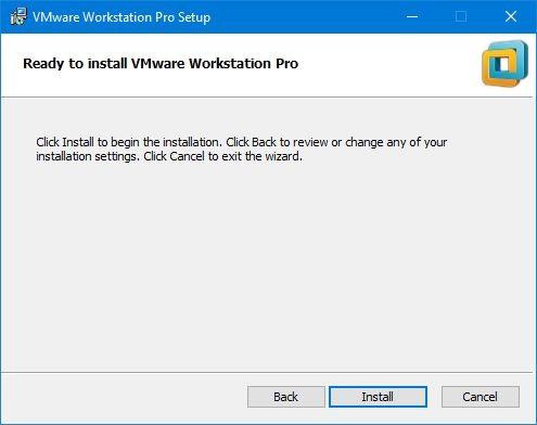 Install VMware Workstation / Player