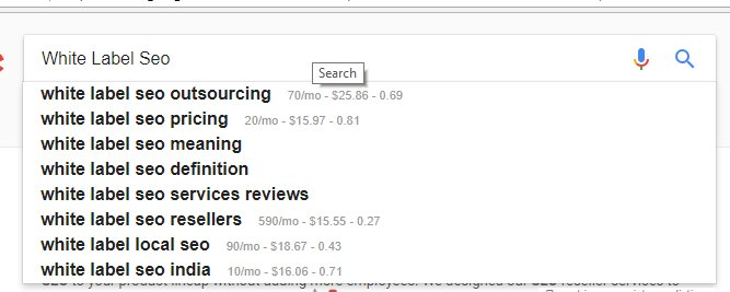 google suggest for finding blog topics
