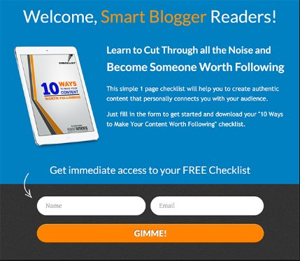 Checklists for getting blog topic ideas