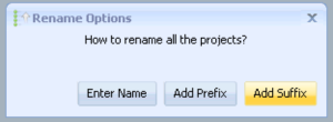 Renaming a projects suffix in GSA Search Engine Ranker.