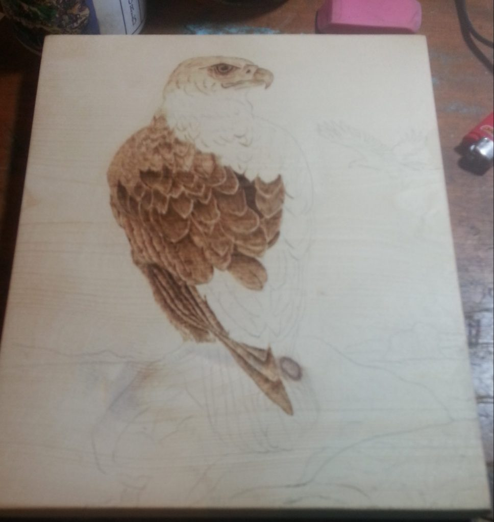 Wood-Burning from a Coloring Page