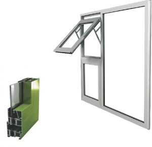 Edge thermal break casement window